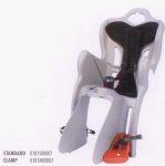 Детское велокресло Bellelli B-One Clamp silver/black